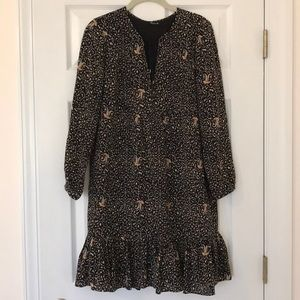 Madewell Silk Fiesta Paisley Dress in Size 2